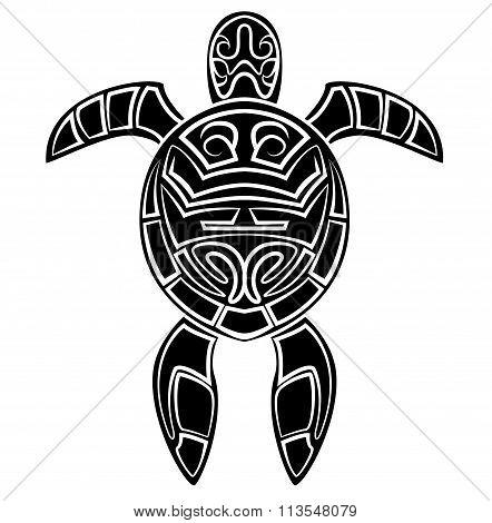 Black Silhouette : Turtle Symbol