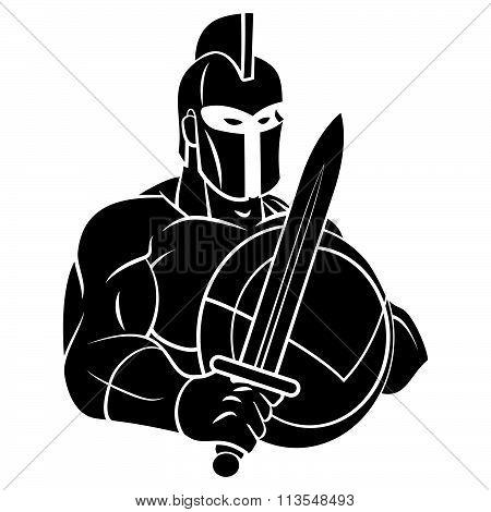Spartan Mascot Tattoo