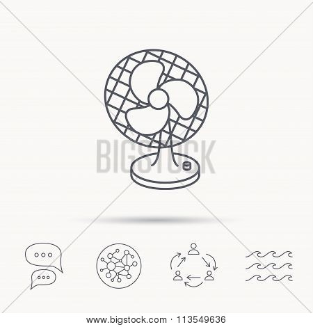 Ventilator icon. Fan or propeller sign.
