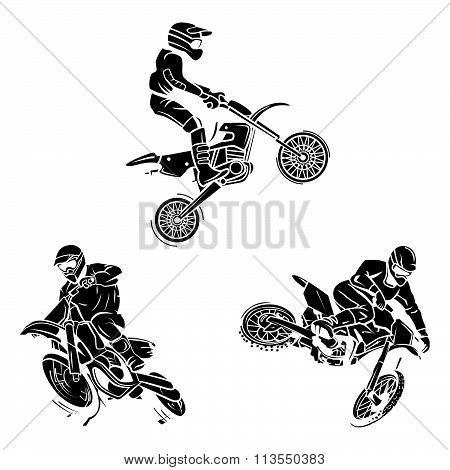 Motocross Tattoo Collection vector design  .eps10 editable vector illustration design