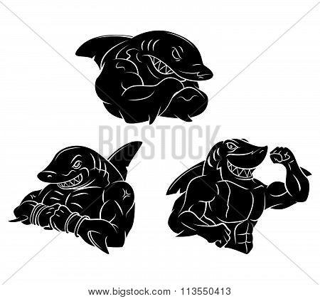 Shark Strong Black tattoo