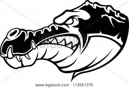 Crocodile symbol illustration