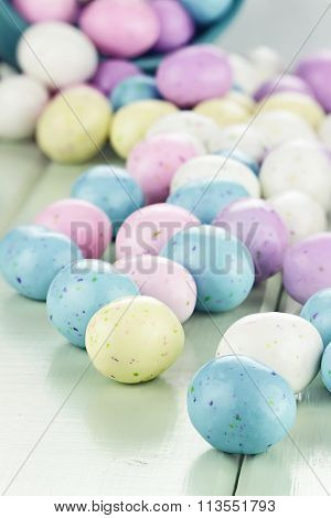 Colorful Easter Candy Eggs
