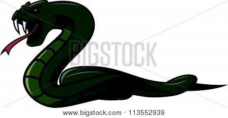 Green snake Illustration design