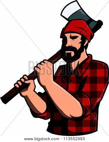 Lumber jack Illustration design