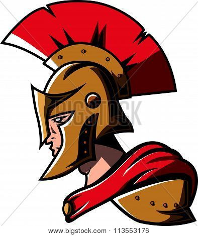 Spartan head design vector illustration .eps10 editable vector illustration design