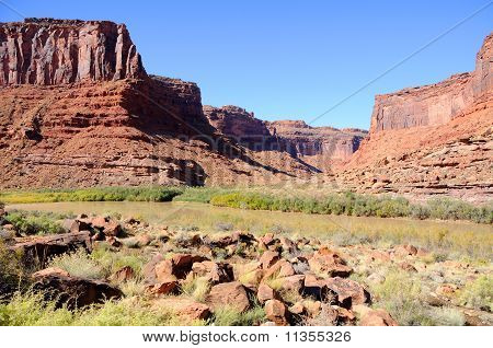 Salt Wash and Colorado River near Moab, Utah