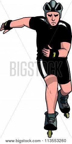 inline skate sport vector illustration design