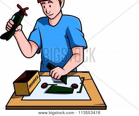 Toys model building vector illustration design