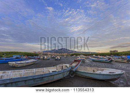Boat, Wetland At Bali