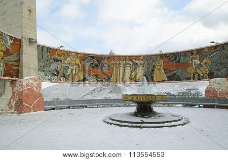 Ulaanbaatar, MN - Dec, 02 2015: Memory complex Zaisan on the tuffet of Ulaanbaatar Mongolia