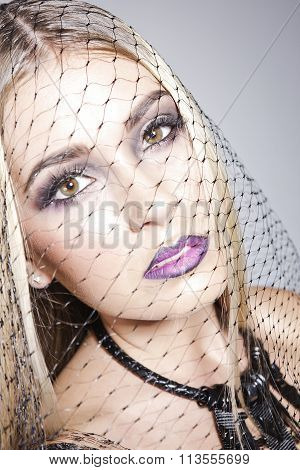 Georgeous Portrait Of A Model With A Veil