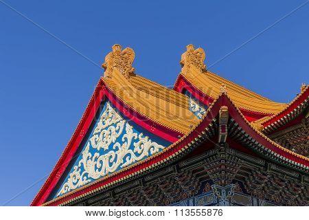 The Famous Chiang Kai-shek Memorial Hall Of Taiwan