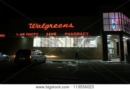 Walgreens Pharmacy at Night