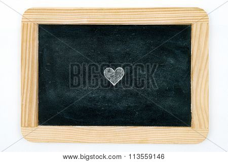 Vintage Chalkboard Heart Shape Symbol