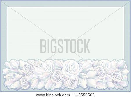 Retro roses border