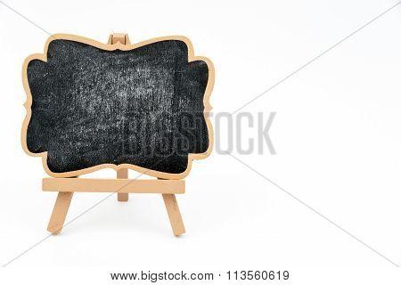 Wooden Easel Mini Blackboard Isolated On White