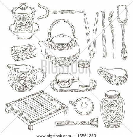 Chinese tea ceremony set