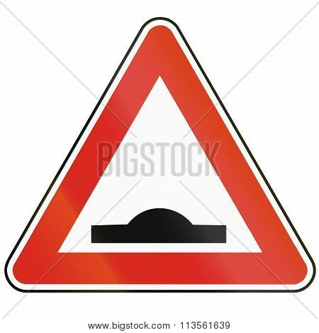 Road Sign Used In Slovakia - Speed Bump