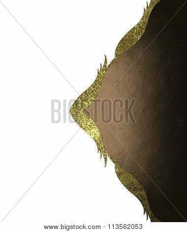 Brown Label With Gold Pattern. Element For Design. Template For Design. Copy Space For Ad Brochure O