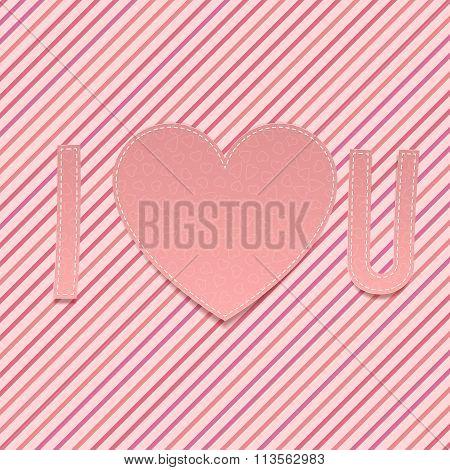 Valentines Day paper Abbreviation I love U
