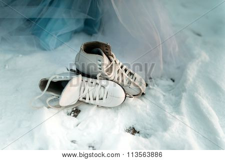 skating on the snow
