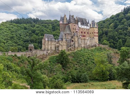 Burg Eltz, Picturesque Medieval Castle At The Rhine Valley, Germany