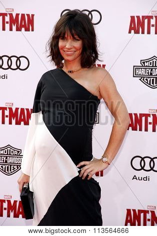 Evangeline Lilly at the Los Angeles premiere of Marvel's
