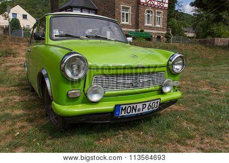 East-german Plastic Vintage Trabant Car In  Münstermaifeld,  Germany