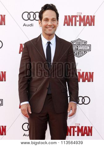 Paul Rudd at the Los Angeles premiere of Marvel's
