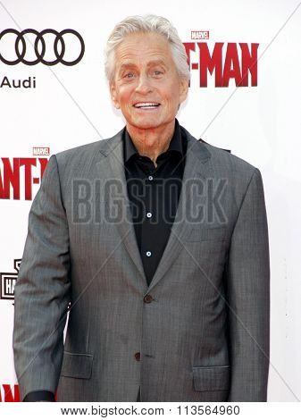 Michael Douglas at the Los Angeles premiere of Marvel's
