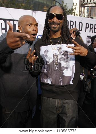 Big Boi and Snoop Dogg at the Los Angeles premiere of