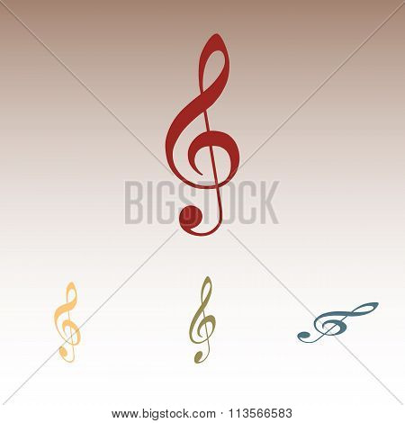 violin clef isolated