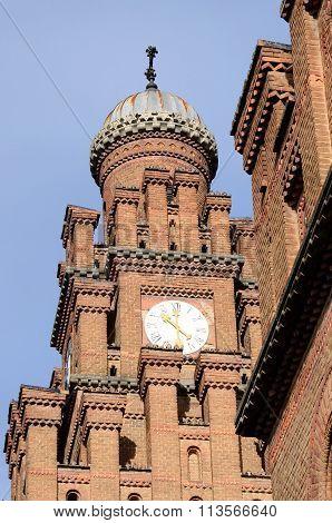 Psalmist's School Tower With Clock, Former Archiepiscopal Residence Complex, chernivtsi,ukraine