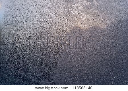 Fantastic Abstract Pattern Frozen Water On A Glass
