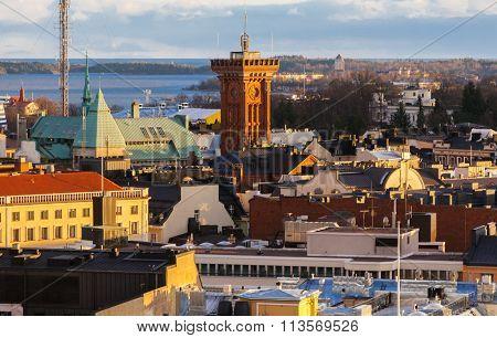 Aerial View Of Helsinki
