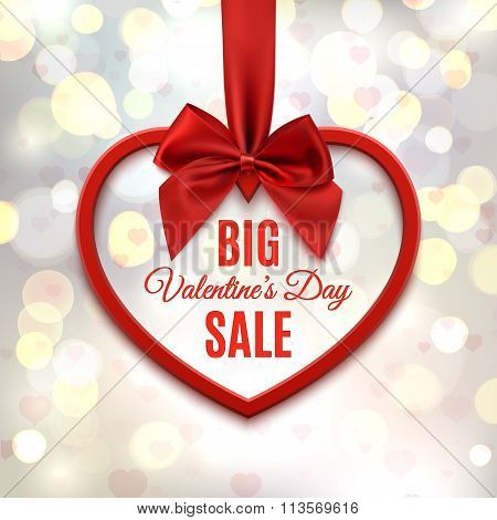 Big Valentines day sale poster.