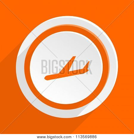 arrivals orange flat design modern icon for web and mobile app