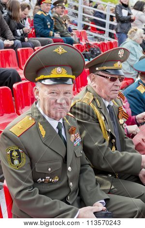 Russian General On Celebration At The Parade On Annual Victory Day, May, 9, 2015 In Samara, Russia