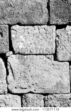 Gray Brick In Greece     The     Texture  Abstract   Of A Ancien Wall And Ruined