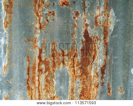 Old rusty galvanized background