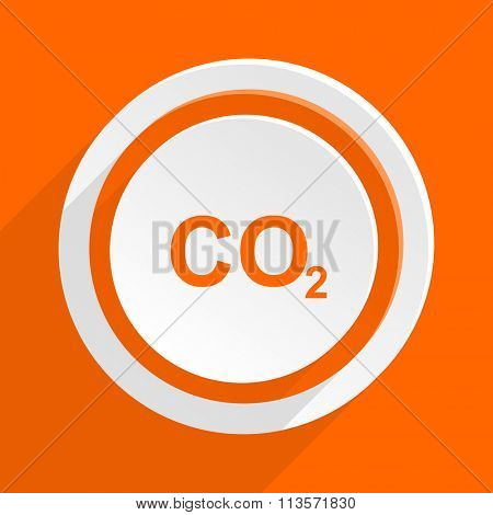carbon dioxide orange flat design modern icon for web and mobile app