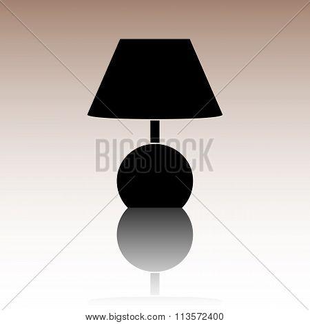 Stock Vector Illustration Lamp icon