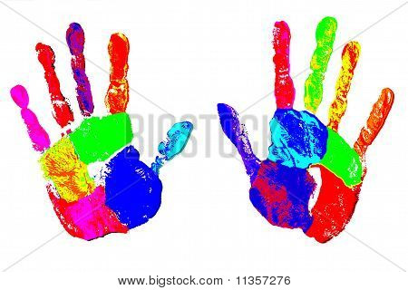 Rainbow Artistic Hands