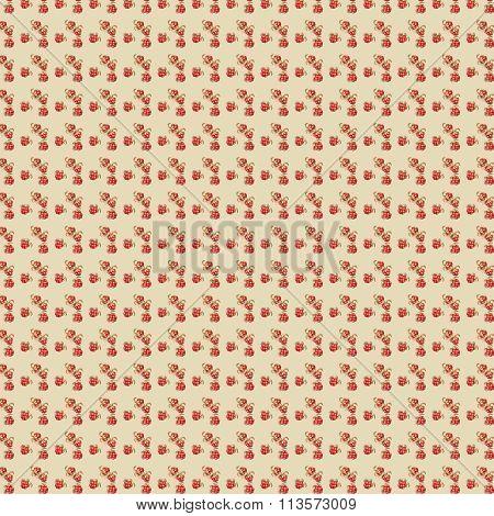 Pretty small Cloudberry yellow watercolor autumn pattern