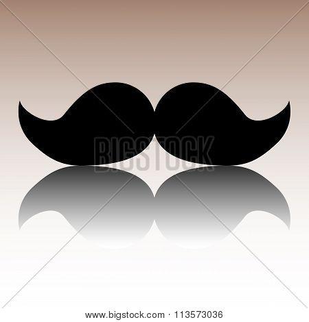Black moustaches icon