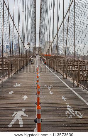 Brooklyn Bridge In New York City