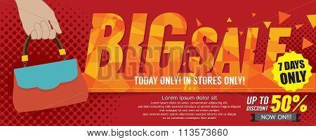 Big Sale 50 Percent 6250X2500 Pixel Banner.