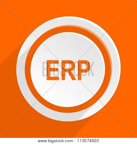 erp orange flat design modern icon for web and mobile app