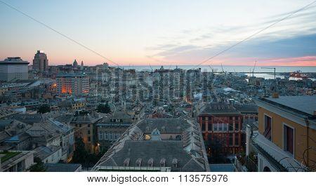 Sunset, Genoa